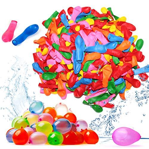 Zaloife 1000 Wasserbomben Wasserballons Schneller Wasserfüllballon Wasser-Bomben Schnellfüller, Bunt Gemischt Wasserballons, Wasser-Ballons Luft-Ballon Mehrfarbig, für Geburtstagsfeier Strand Party
