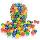 LCP Kids 100 pièces de balles de piscine colorées en plastique I Sans plastifiants pour bébés & enfants á partir d'un mois