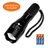 outlite A100 Portable 2000 Lumens Handheld LED Flashlight with Adjustable Focus and 5 Light Modes, Outdoor...