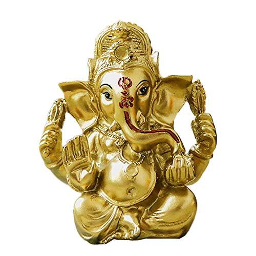 alikiki Indian Ganpati Idol Car Dashboard - Hindu Diwali Ganesha Statue - Pooja Idols Buddha Murti