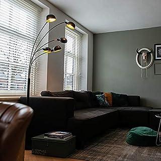 Qazqa Lampadaire | Lampe sur pied Moderne Design - Sixties Lampe Noir - E14 - Convient pour LED - 5 x 40 Watt