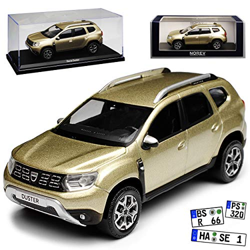 Norev Dacia Duster II Dune Beige Metallic SUV 2. Generation Ab 2018 1/43 Modell Auto