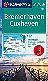 KOMPASS Wanderkarte Bremerhaven, Cuxhaven: 4in1 Wanderkarte 1:50000 mit Aktiv Guide und Detailkarten inklusive Karte zur offline Verwendung in der ... Reiten. (KOMPASS-Wanderkarten, Band 400) - KOMPASS-Karten GmbH