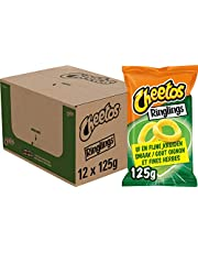 Cheetos Ringlings Ui en Fijne Kruiden Chips, Doos 12 stuks x 125 g