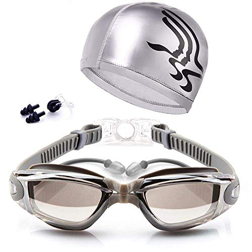 Gafas de Natación y Gorro de Natacion Para Hombres Mujeres Mujer Adultos...