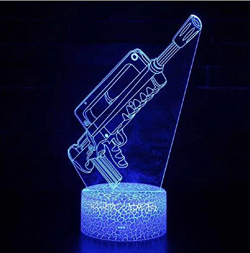 Pistola de modelado 3D LED luces de noche interior dormitorio decoración 7 color táctil remoto USB lámpara de mesa para niños regalos