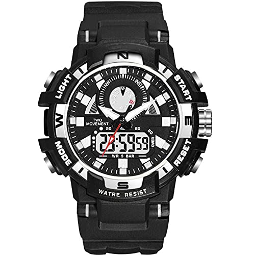 WNGJ Reloj Deportivo, Moda Moda Moda Simple Reloj Electrónico Luminoso DIAL DIAL PEQUEÑO, Reloj Deportivo Impermeable Multifuncional, Empaquetado Exquisito Gratis Black