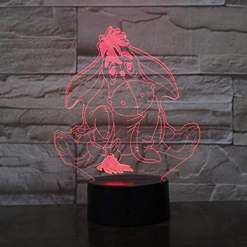 Bourriquet Winnie L'Ourson Amis Nouveau Dessin Animé Mignon 3D Led Veilleuses 7 Changement De Couleur Lampes De Table Décoration De La Maison Vacances Enfants Cadeaux De Noël
