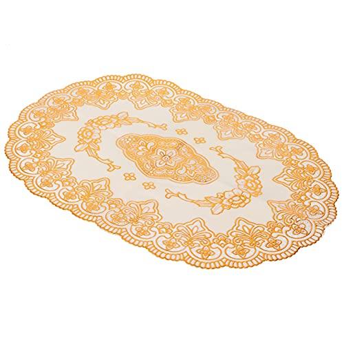 Set de Sets de Table, Dessous de Verre Lavable pour Bar de Restaurant(Oval Pattern 01)