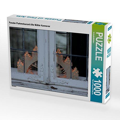 CALVENDO Puzzle Fenster Parkrestaurant Alte Mühle Hannover 1000 Teile Lege-Größe 64 x 48 cm Foto-Puzzle Bild von SchnelleWelten