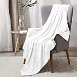 BEDELITE Fleece Blankets White Throw Blankets for Couch & Bed, Plush Cozy Fuzzy Blanket 50' x 60', Super Soft & Warm Lightweight Throw Blankets for Fall and Winter