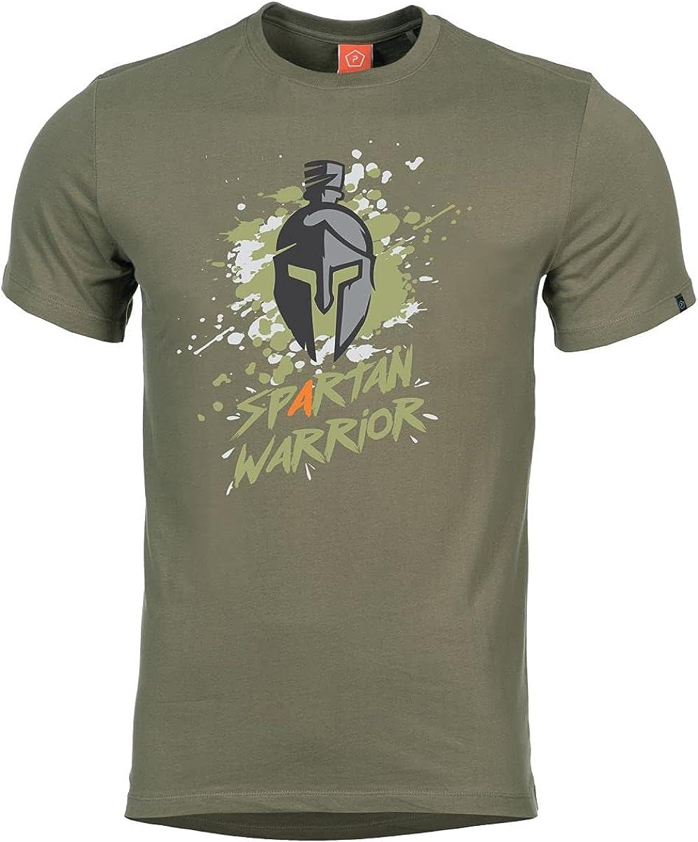 Pentagon Men's Ageron Spartan Elegant Warrior Large special price !! T-Shirt Olive