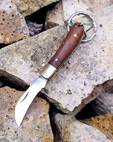 New Exclusive. 2660 Laguiole Artisan Blue Hardwood Keyring Knife. Mens Porte-clés, Mens Porte-clés, les petites mains de porte-clés porte-clés