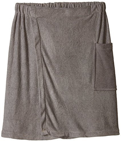 "DII Men's Adjustable Microfiber Shower Wrap For Saunas, College Dorms, Pools, Gyms, Beaches, Locker Rooms, & Bathroom, 54 x 20"" - Gray"