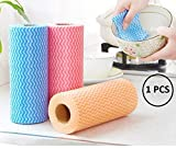 JIPPCO Multipurpose Non-Woven Kitchen Cleaning Wipes Cloth Roll for Kitchen, Bathroom Washing Disposable