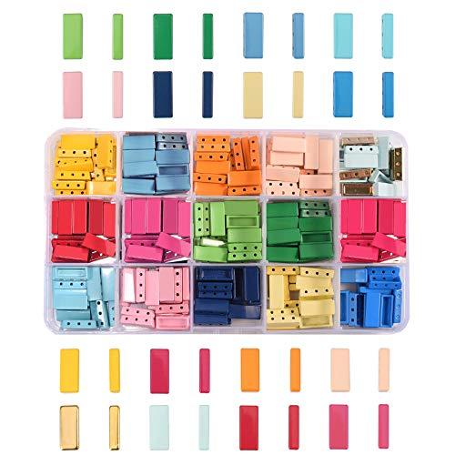 320 cuentas de aleación esmaltadas con forma de arco iris, bohemio, Miyuki, para hacer abalorios, manualidades, joyas, abalorios espaciadores para pulseras y niñas