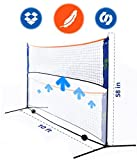 Street Tennis Club Portable Badminton Net Stand - Light and Fast Set Up - Perfect for Kids Volleyball, Tennis, Pickleball, Soccer Tennis - for Indoor or Outdoor Court, Beach, Driveway