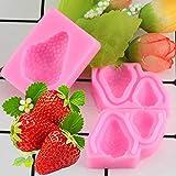 LNOFG Strawberry Silicone Mold Cake Decorating Tool Chocolate Mold Cake Tool