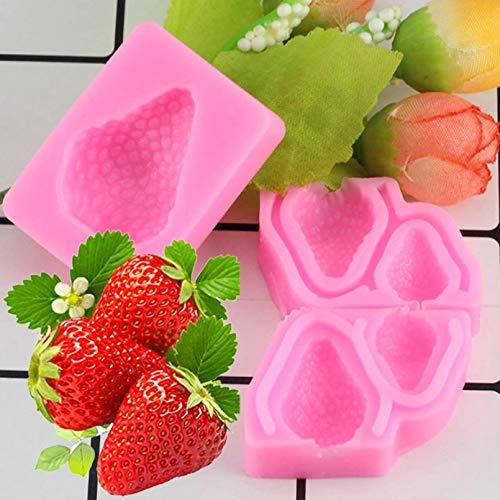 LNOFG Strawberry Silicone Mold Cake Decorating Tool Chocolat