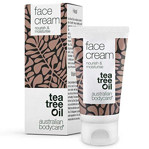 Australian Bodycare Face Cream 50 ml | Gesichtscreme Männer & Frauen mit unreiner, fettiger, trockener Haut & Mischhaut | Creme für Pickel & zu Akne neigender Haut | Feuchtigkeitsspendend | Teebaumöl