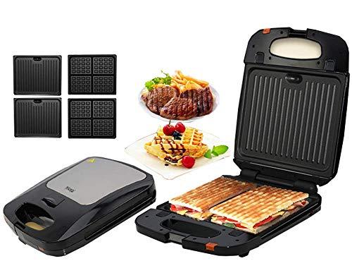 L.TSA Küche Sandwich Maschine Panini Maschine Frühstück Maschine Grill Wurst Maschine Hamburger Toast Brot Steak Elektroofen - Antihaft-Pfanne