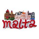 Imán de nevera 3D con forma de letras de Malta para recuerdo de la decoración del hogar y la cocina, imán de nevera de Malta