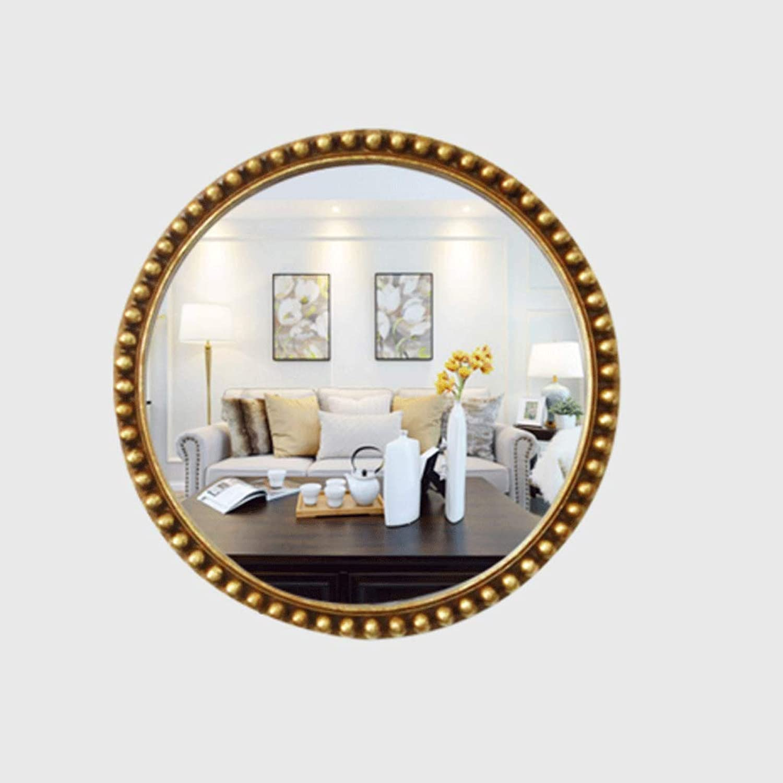 European Bathroom Mirror Round Bedroom Vanity HD Silver ...