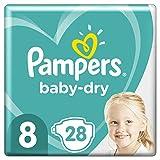 Pampers Pampers - Pañales (talla 8, 17 kg, 28 unidades, hasta 12 horas de protección)