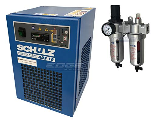 Schulz REFRIGERATED AIR Dryer for AIR Compressor, Compressed AIR Systems, 10 CFM, for 2 & 3 HP COMPRESSORS (with Regulator-PRE-Filter)
