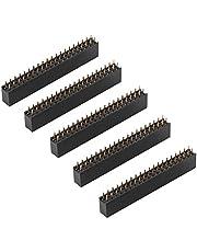5 pcs 2.54mm Placa de PCB de doble fila recta Conector hembra de conector hembra para Raspberry Pi