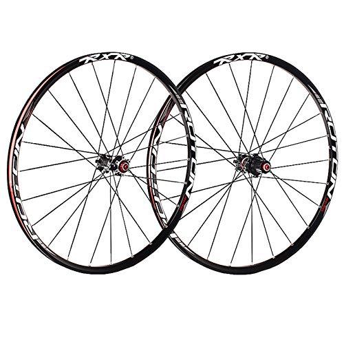 ZCXBHD 26/27,5/29 Pulgadas Bicicleta Montaña Juego De Ruedas Fibra Carbon Freno De Disco MTB Delantera Trasero Rueda 5 Palin 7 8 9 10 11 Velocidad Casete (Color : Thru axle, Size : 27.5inch)