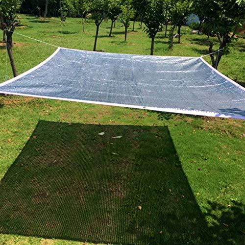 Malla Sombreo Con Ojales, Tasa de Sombreado del 75%, Reflejo de Papel de Aluminio, Sombreado, Aislamiento Térmico, Reducción de Humedad, Resistente A Los Rayos UV, para Plantas de Jardín de Invernader