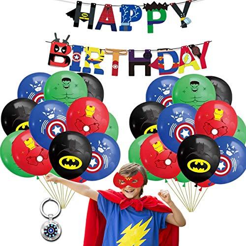Paket med 34 super hjälte födelsedagsfest dekorationer set, Avengers Party Supplies Dekorationer, barn superhjältar party levereras, barnfestdekoration för dina barn temafest favorit