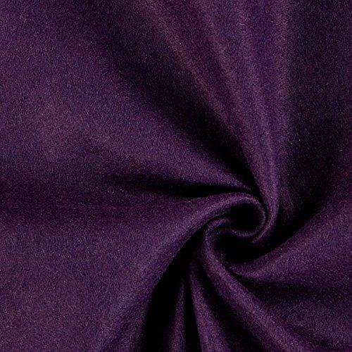 Fabulous Fabrics Filzstoff aubergine, 1 mm dick, 90 cm breit – Filz zum Nähen und Basteln von Taschen, Tischdeko, Filzkörbe und Wohnaccessoires - Meterware ab 0,5m