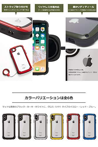 【ROOTCO.】iPhoneXRケース耐衝撃GravityShockResistTough&BasicCase.(カーキ)