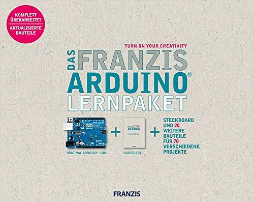 Das Franzis Arduino® Lernpaket | inkl. Original Arduino® Uno, 1 Steckbrett und 20 weitere Bauteile für 70 verschiedene Projekte
