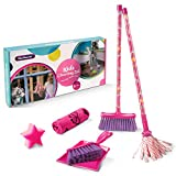 Masthome Kids Cleaning Set Includes 6 Cleaning Tools Cleaning Play Set with Mop, Microfiber Cloth, Dustpan, Broom and Cleaning Sponge