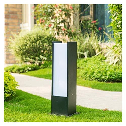 Luz de poste Lámpara cuadrada 60 cm moderna simplicidad del césped del jardín de aluminio al aire libre de tierra paisaje luz del piso E27 exterior de la Comunidad Parque Columna de la lámpara de la c