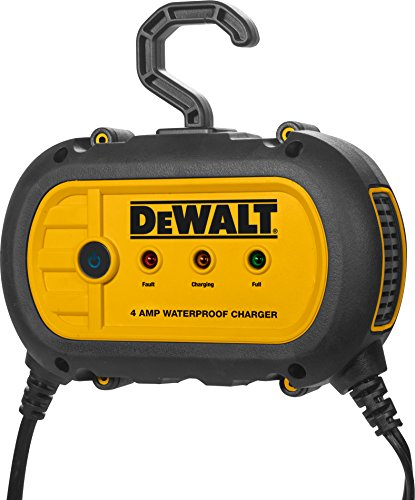 DEWALT DXAEWPC4 Fully Automatic 4 Amp 12V Waterproof Battery Charger/Maintainer with Cable Clamps