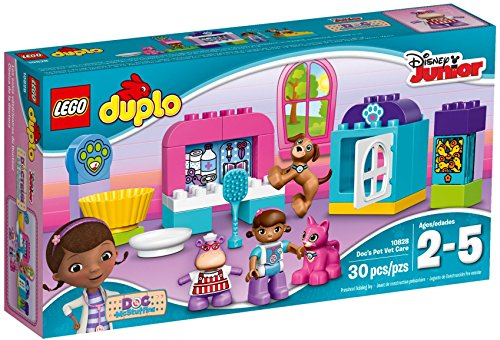 LEGO DUPLO Disney 10828 Doc McStuffins Pet Vet Care Building Kit (30 Piece) by LEGO