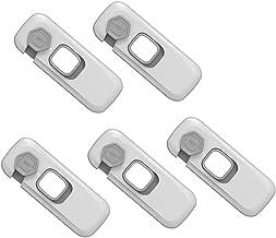 Yousiju 5 stks Veiligheidskast Lock Anti-Diefstal Protector Om te voorkomen dat de deur op de opening van de deur van Plas...