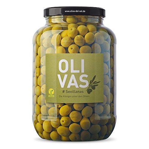 OLIVAS Sevillanas / 2.500 g (Gallone) * Milde Manzanilla Oliven aus Sevilla * Die Königin unter den Oliven - das Original