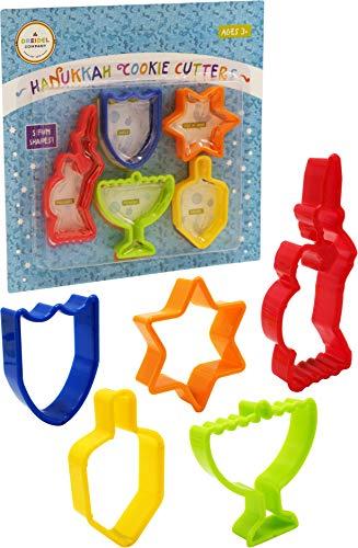 Hanukkah Shaped Cookie Cutters, Five Hanukkah Shaped Cookie Cutters - Menorah, Dreidel, Maccabee, Star of David, Maccabee Shield (Single)