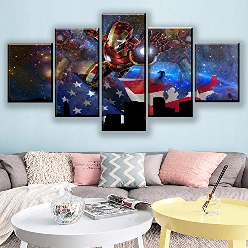 5 Panneau Art Mural Peinture 200x100 cm Photos Huile pour Home Decor imprimé Moderne Décoration pour Cuisine Film américain