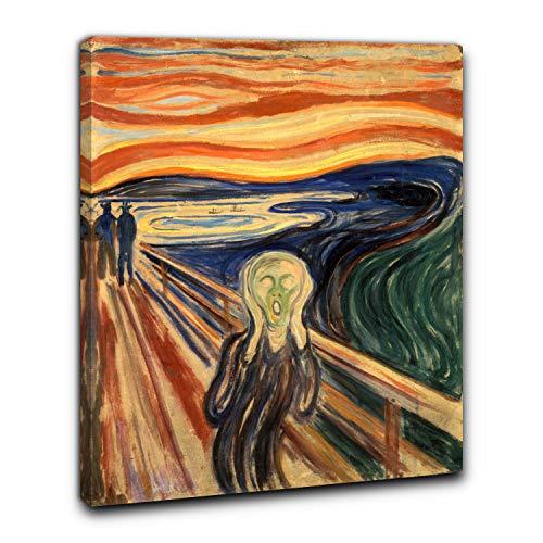 Niik Quadro + Telaio (BC) Edvard Munch 60 x 47 x 1,7 cm L' Urlo Falso d' autore Stampa su Tela