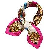 HX fashion Moda para mujer Pequeño gusano de seda Primavera, primavera Basic y otoño Dama, profesional, pequeña bufanda cuadrada, gorra Ropa (Color : 2, Size : One Size)