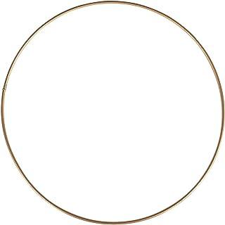 Rayher Anillos metal, recubiertos, 20cm ø, oro
