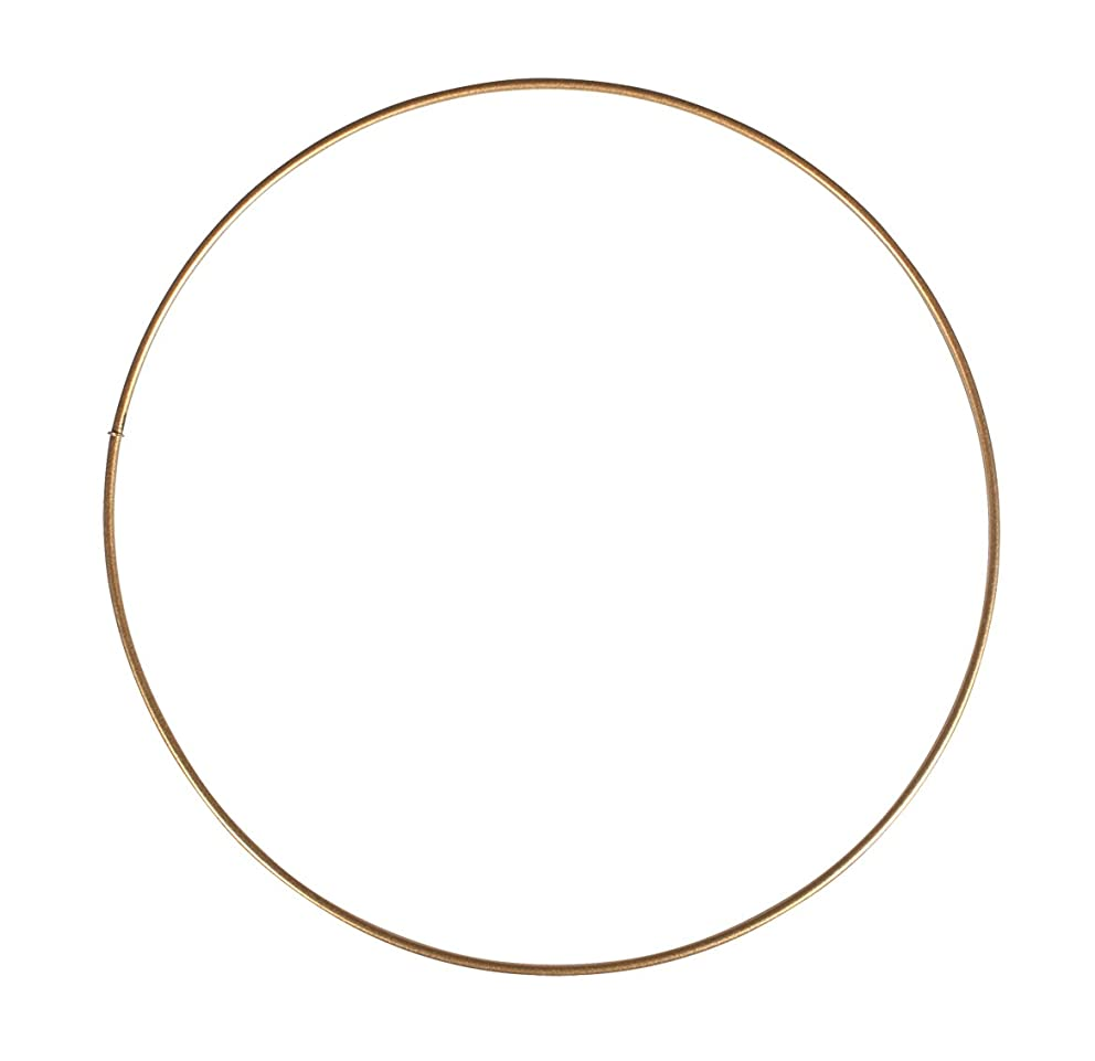 Rayher 2505206 Metal Rings, Coated, 20cm ?, Gold