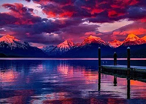 Lake Mcdonald Montana-Reeks Voor Kinderen Volwassen Cadeau Landschap Karakter Dier Huisdecoratie 3D Collectibles Hersenkrakerspellen Legpuzzel-1000 Stukjes