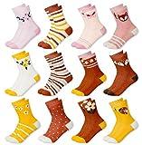 MC.TAM® Calcetines de Colores Medias Para Niños Niñas 12 Pares 90% Algodón Oeko Tex® Standard 100, 39-42, 12 pares FV004
